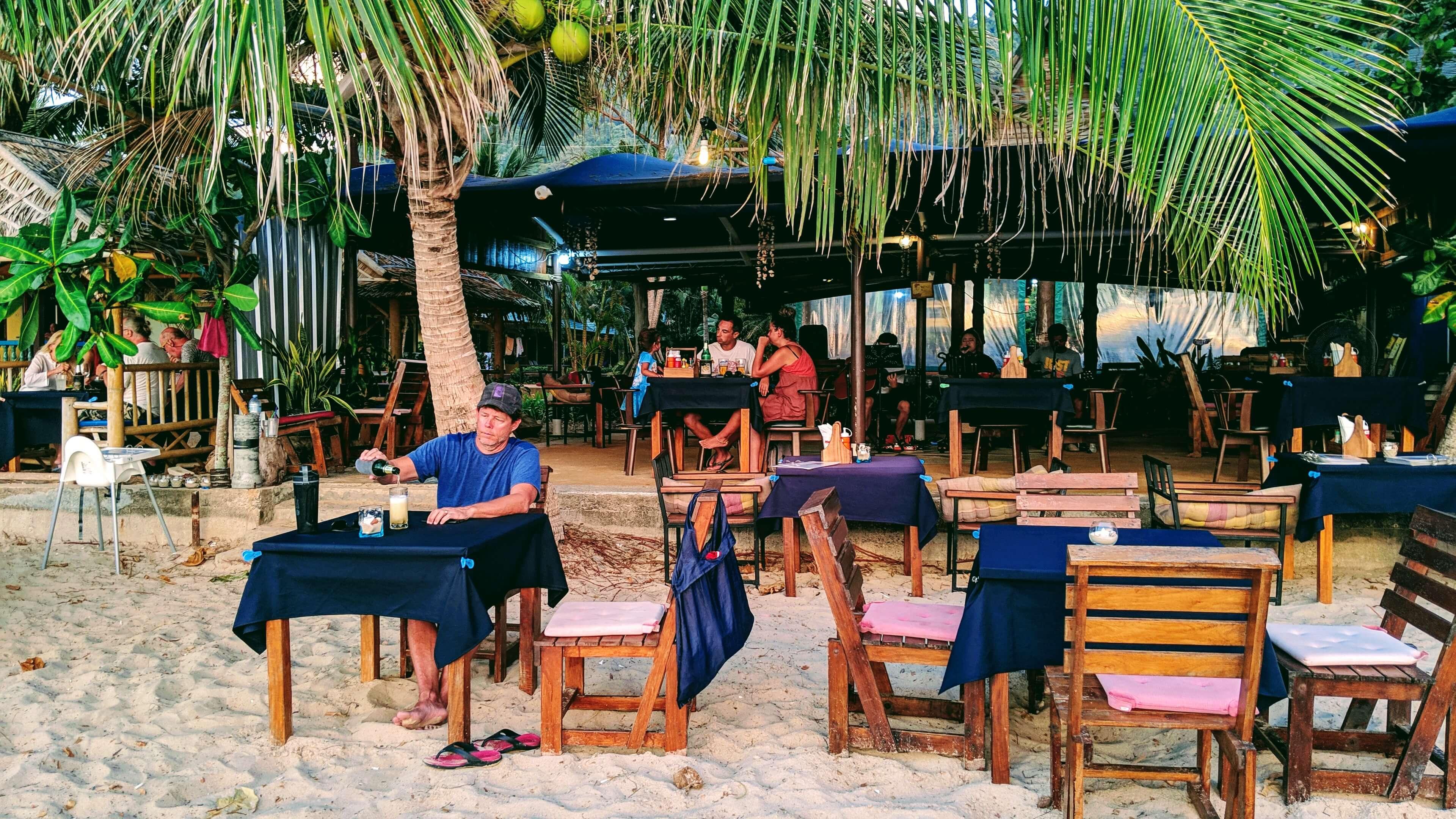 Rob at beach restaurant on Klong Dao beach