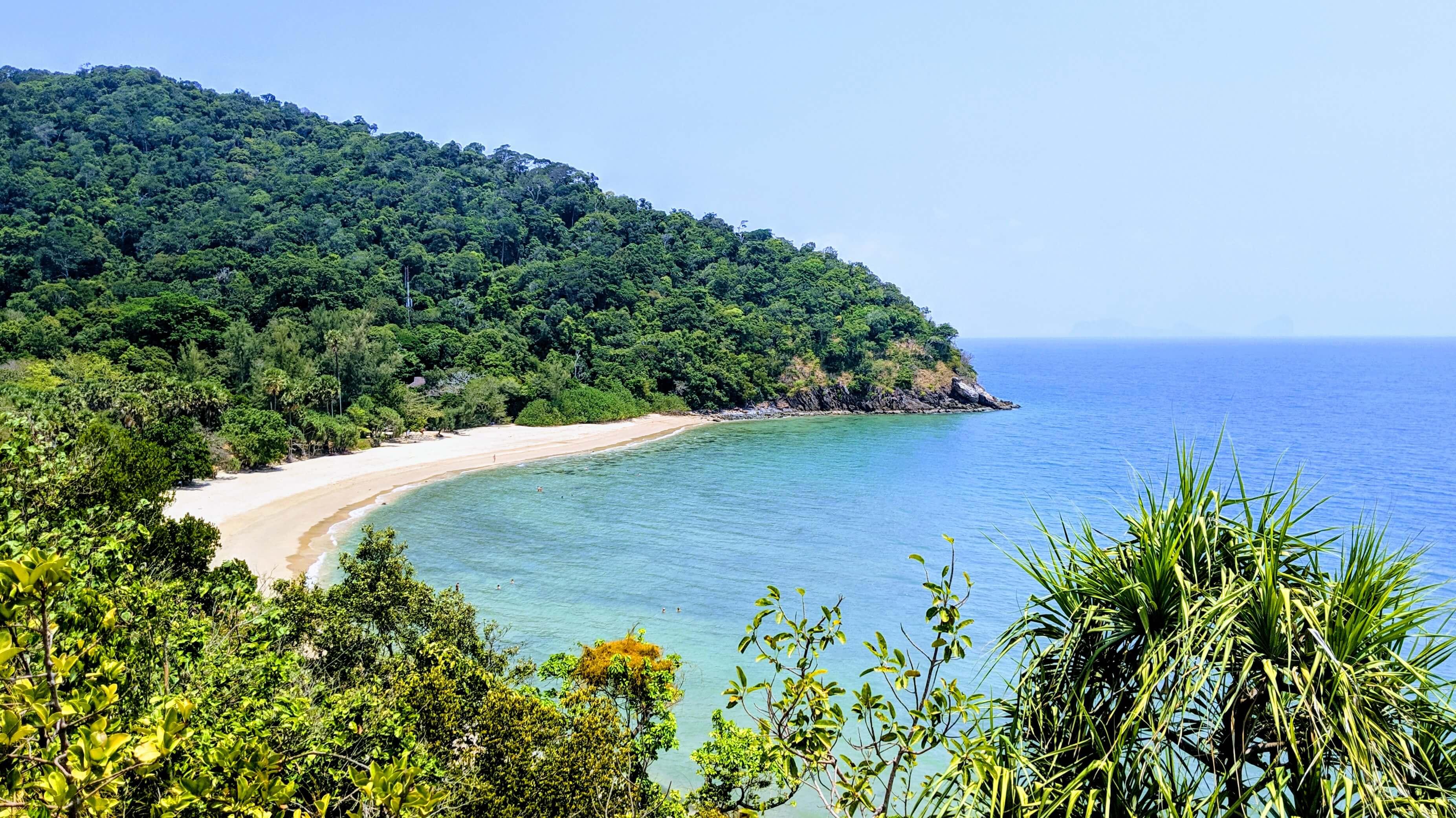 Mo Ku Lanta National Park view of the beach.