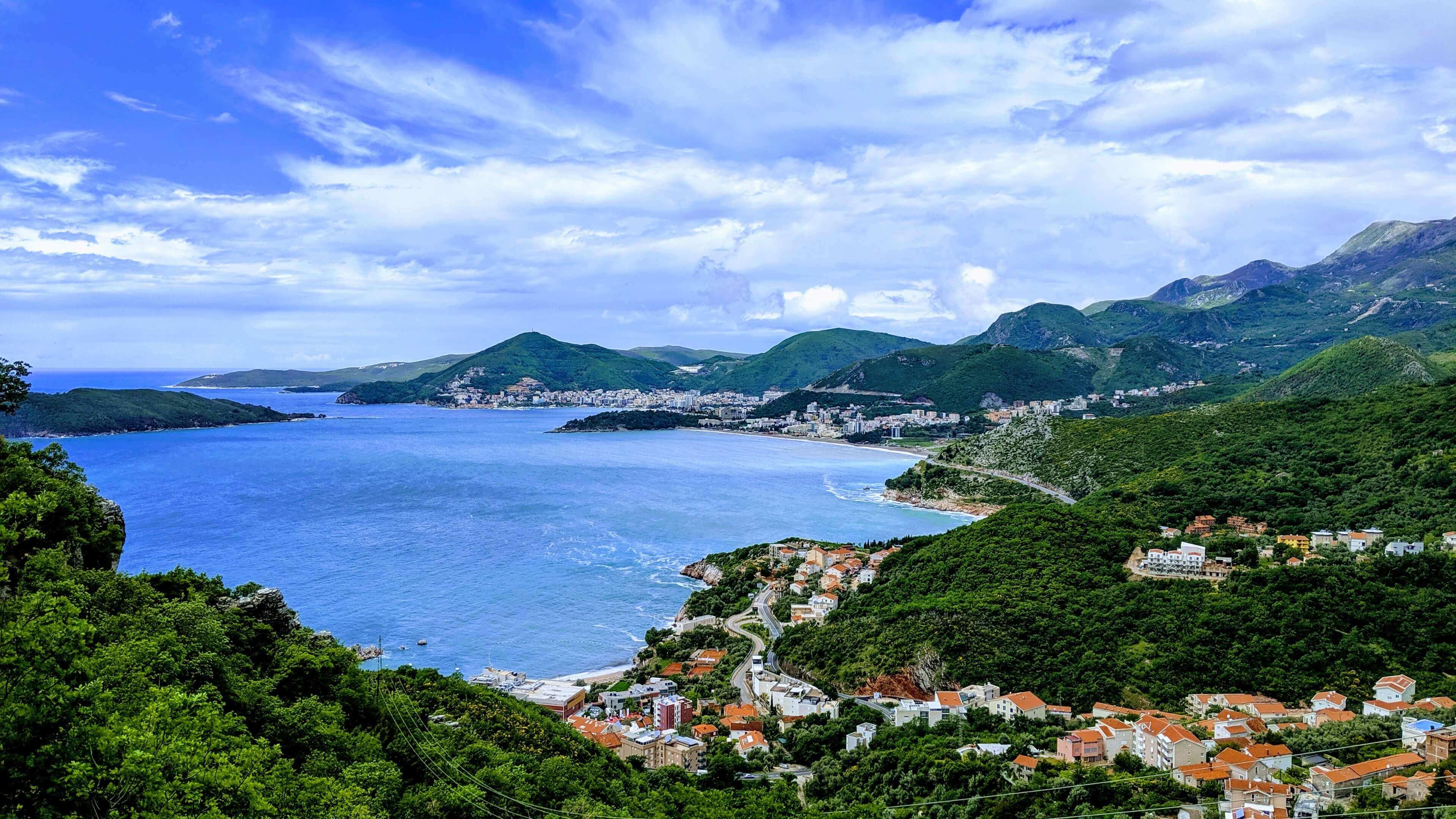 The Bay around Budva overlooking the city.