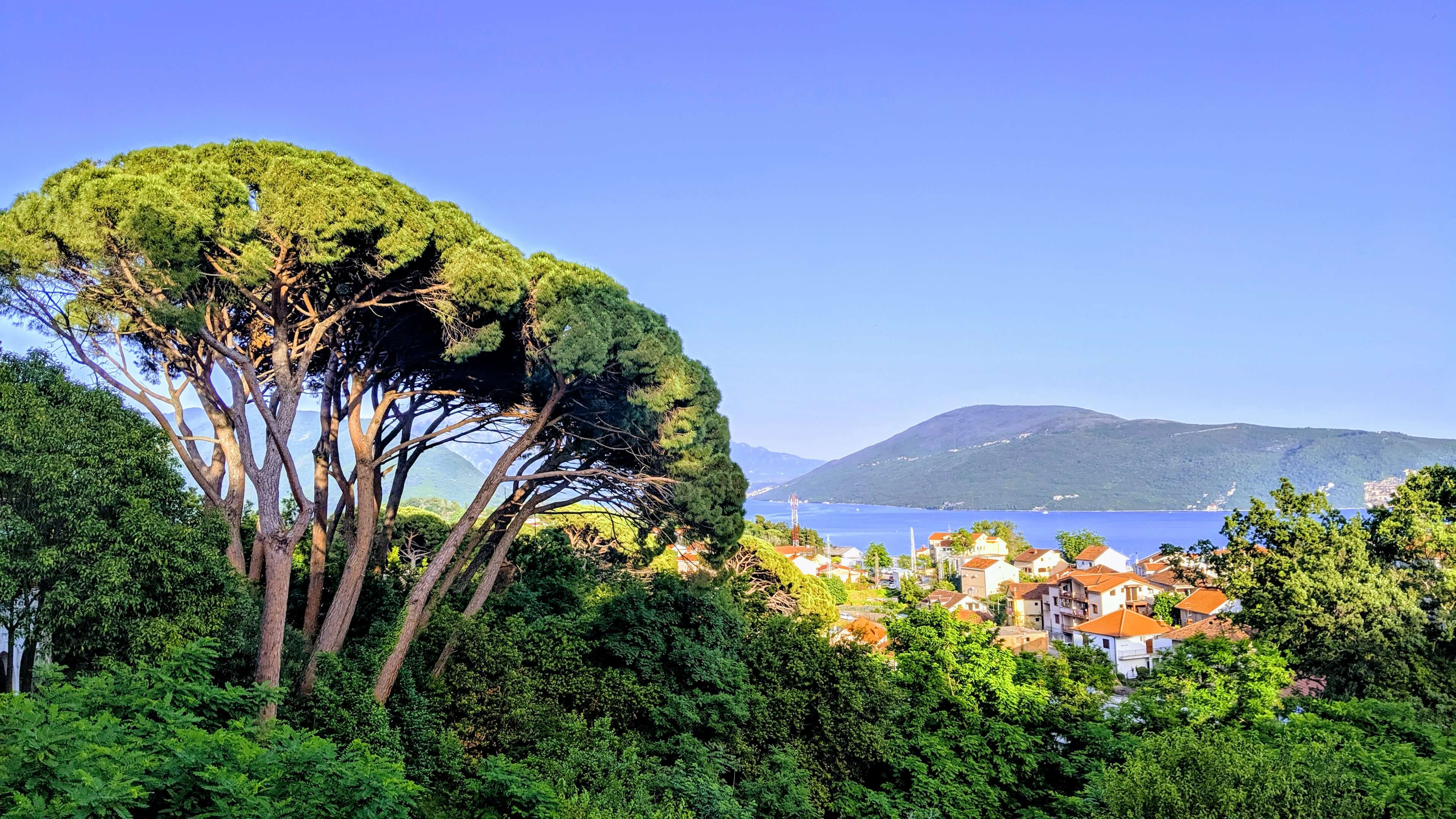 Herceg Novi - the view from our airbnb which shows off the bay and the charming city.