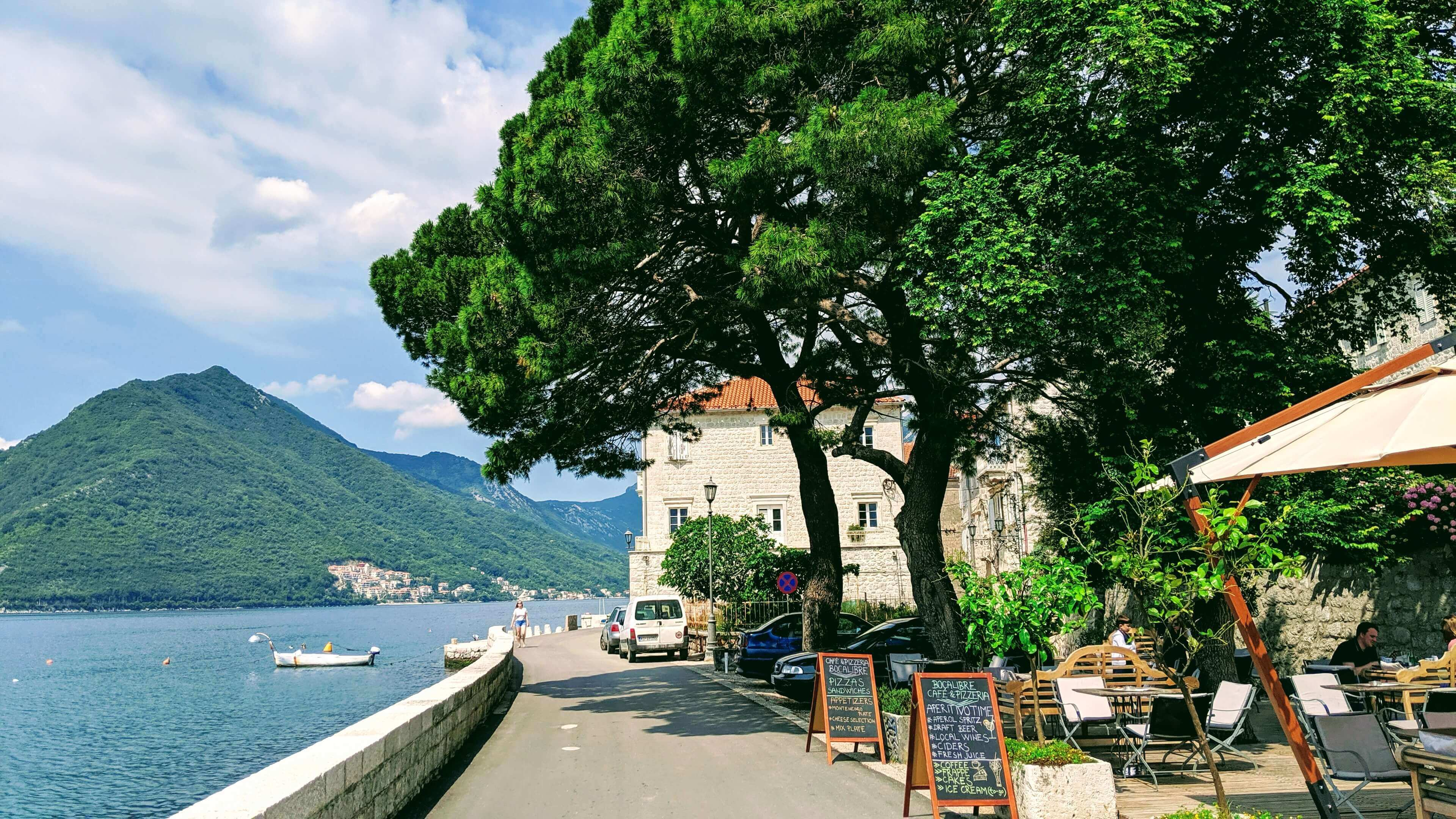 Things to see and do in Montenegro: The Boardwalk in Perast.