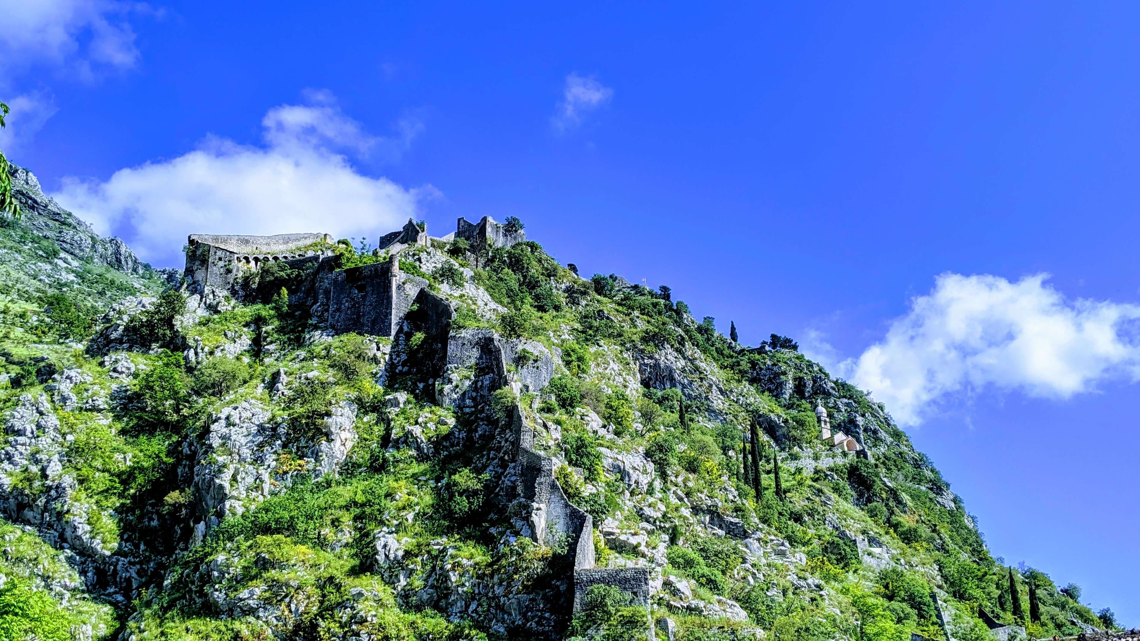 The view of Sveti Ivan Fortress from the trail below