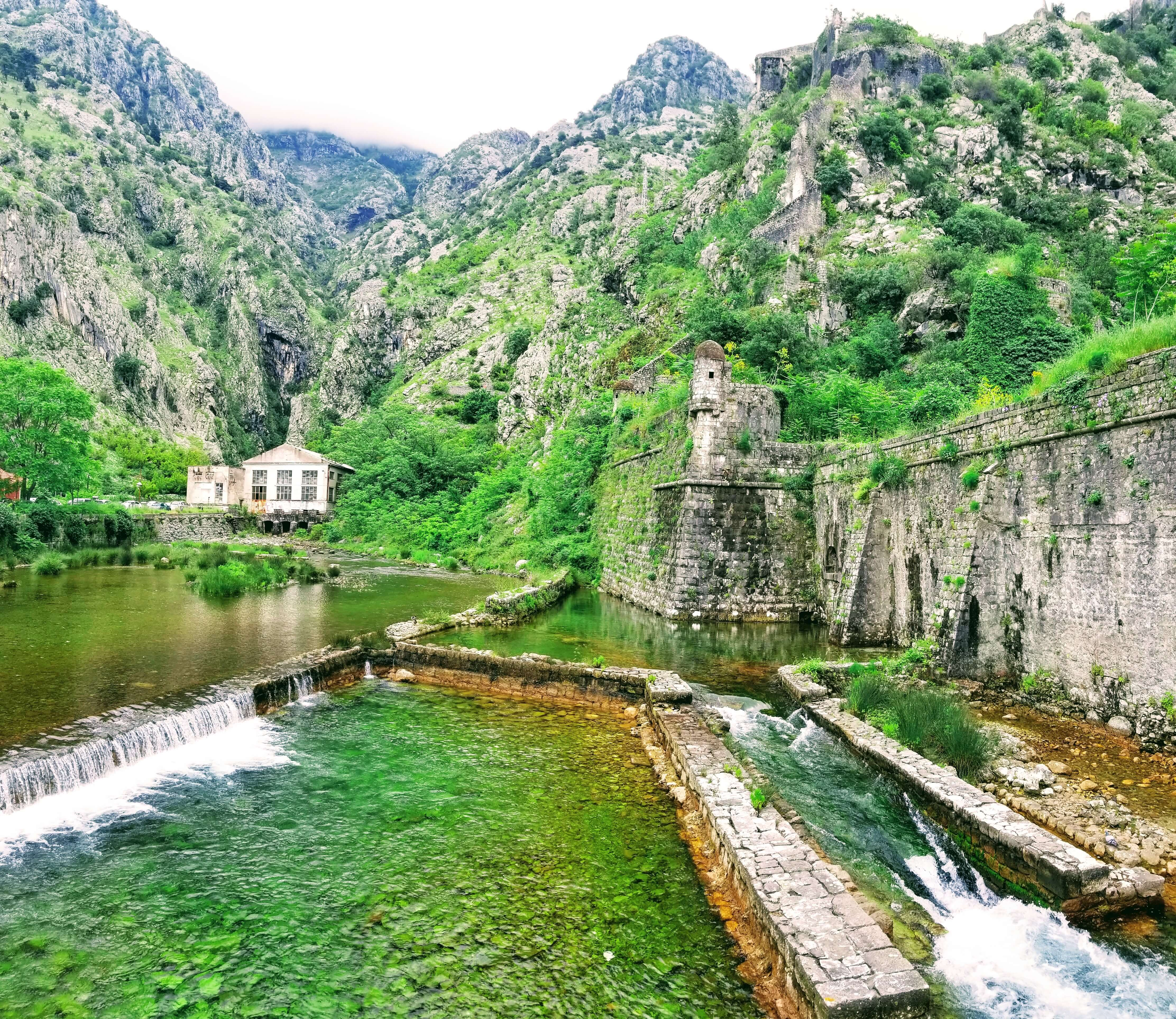 The moat around the Fortress of Kotor.