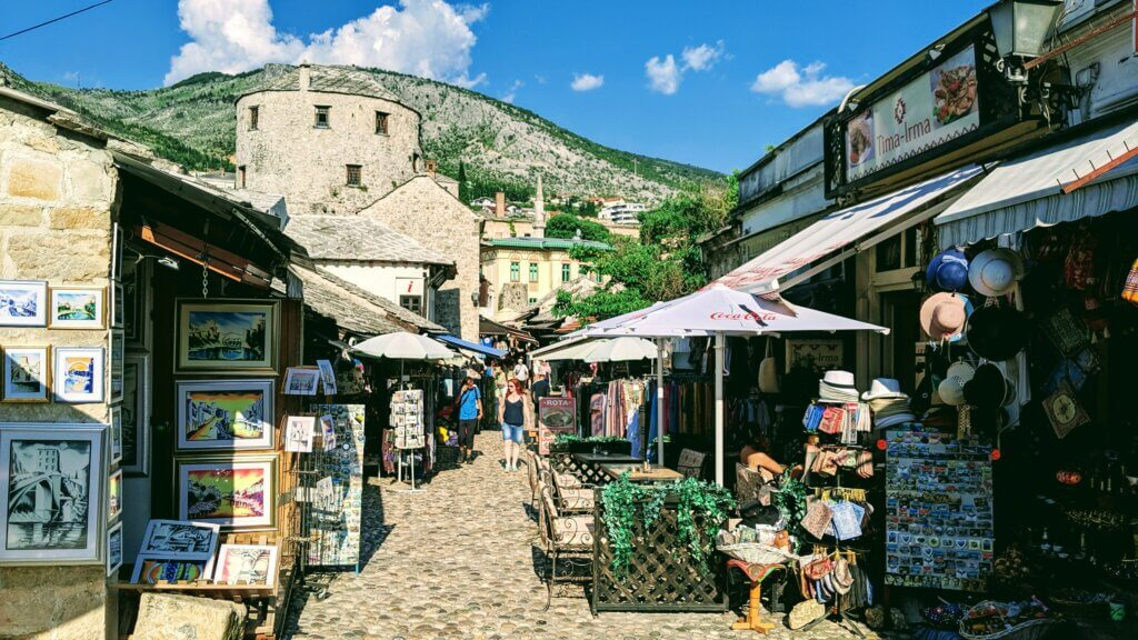 The cobblestone streets of the Old Town Bazaar make it one of the top things to see and do in Mostar