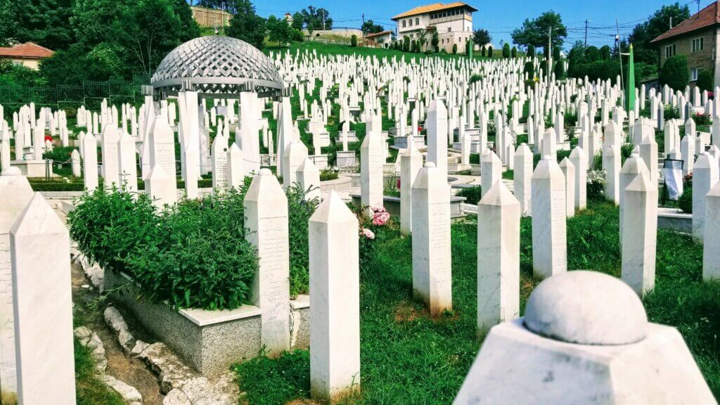 Kovaci Cemetery Commemorating Those Lost During the Siege of Sarajevo