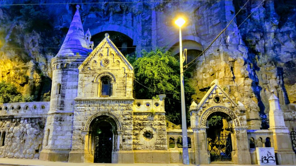 Cave Church built into the rock of Gellert Hill is a great free and fun thing to see and do in Budapest.