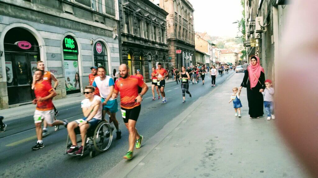 Sarajevo Running Race through the Old City