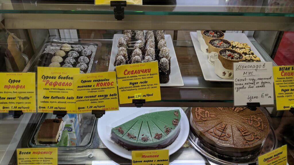 Desserts at Loving Hut